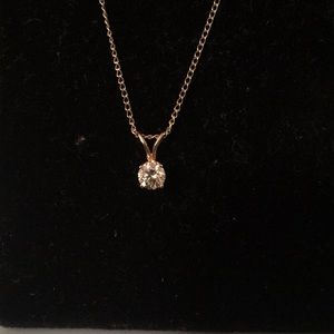 Jewelry - 14k Gold 1/2 carat Natural Diamond Pendant